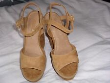 Women's Tan Platform Shoes Size UK7 EU40