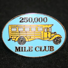 Exclusive - 250,000 Mile Club School Bus Driver Lapel / Hat Pin