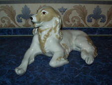 Vintage USSR 1962-1965 LFZ Lomonosov factory Huge Porcelain Figurine  SPANIEL
