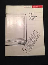 Mitsubishi Television TV User Manual CS-2724R Instructions Owners Guide