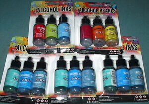 LOT of 15 - TIM HOLTZ Ranger Adirondack ALCOHOL INKS - New!