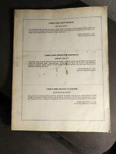 Honda Shop Manual Revision sheet Korrekturblatt notice de revision CX500 TURBO
