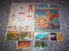 ALBUM IL VOSTRO AMICO TOPO GIGIO ED.PAVESI 1967 VUOTO + 6 FIGURINE TIPO PANINI