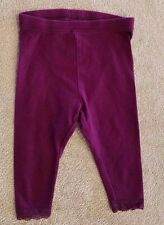 ADORABLE! OLD NAVY 6-12 MONTH BURGUNDY LACE PANTS/ LEGGINGS