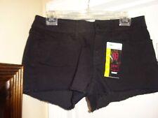 No Bo No Boundries Black Junior Size 11 Shorts Zip Front 4 Pockets NEW