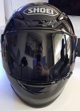 Shoei NXR Motorradhelm Größe M, Integralhelm Schwarz inkl. schwarzem Visier