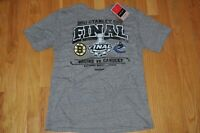 Boston Bruins Vancouver Canucks 2011 Stanley Cup Finals Shirt Medium NWT Reebok
