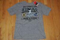 Boston Bruins Vancouver Canucks 2011 Stanley Cup Finals Shirt Medium NWT Reebok