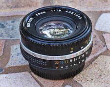 "Nikon Nikkor 50mm f/1.8  fixed Prime Standard ""true pancake"" lens"