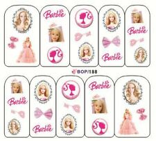 Nail Art Decals Transfers Stickers Barbie Pink Dress (BOP188)