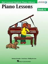 Piano Lessons Book 4 Book and Audio - Hal Leonard Student Piano NEW 000296180