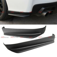 Rear Body PU Bumper Lip kit Side Aero Aprons Spats Cap Spoiler for 15-18 WRX STI