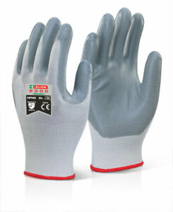 Click 2000 NFNG Grey Nitrile Foam Work Gloves 10 pairs - Choose your size