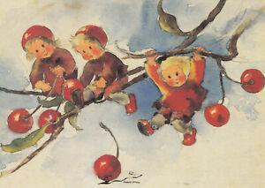 Postkarte: Mili Weber - Kirschenkinder