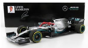 1/18 Minichamps Lewis Hamilton 2019 F1 Mercedes-AMG F1 W10 EQ #44 2019 Monaco GP