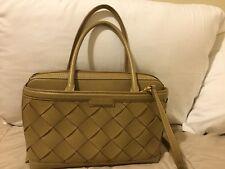 womens Iacucci Italian leather cuir veritable satchel purse taupe beige