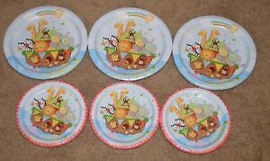 Noah's Ark Cute Cartoon Animals Boat Baby Shower Party Paper Dessert Plates