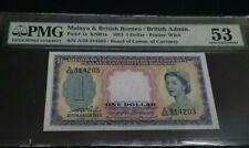 1953 MALAYA $1 A/58 314203 PMG53 AUNC