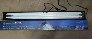 """Solarmax 48"""" T5 HO 54wx2 DEEPBLUE Reef Aquarium Light with LED moonlights"""