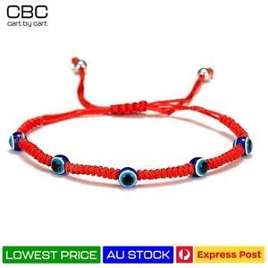 Evil Eye Handmade Greek Turkish Bracelet Braided Protection Blue RED Lucky Charm