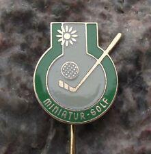 Antique Miniature Crazy Golf Putter Club Ball Souvenier Pin Badge
