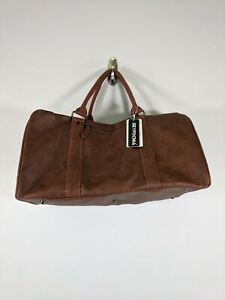 Unisex Seyfocnia Oversized Leather Travel Duffel Bag - Brown