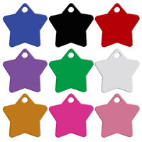 20pcs/lot Personalized Dog ID Tags Star Shape Aluminum Tags Collar No Engraving