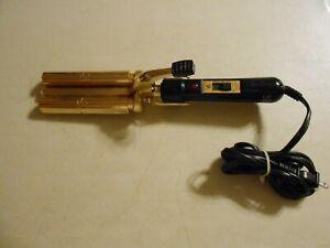 Vidal Sassoon VS Sassoon VS184 Gold Series 3-Barrel 5/8 Weaver Curling Iron