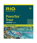 RIO Powerflex Trout Leader 7.5ft, 9ft &12 foot in single or 3 packs All Weights