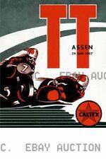 1957 Dutch TT Assen 32nd Anniversary Poster Print  ca 8 x 10 print prent poster