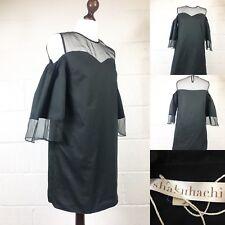 Shakuhachi Noir OFF FROID robe épaule une ligne tunique Free People Australien (D2