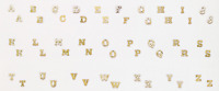 14k Yellow Gold Diamond Cut Initial Stud Earrings for baby/Aretes con iniciales