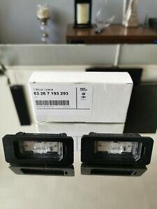 Genuine BMW E81 E82 E87 E90 E91 E92 LED Rear Number Plate Lights  63267193293