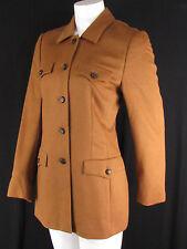 Escada Women Camel Light Brown Rabbit Angora Wool Used Fashion Jacket Coat 2