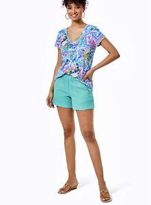 Lilly Pulitzer NWT Lilo Shorts Gustavia Green Size XL