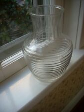 Vintage Anchor Hocking Pitcher Carafe Ribbed Bee Hive Design No Lid Clear Glass