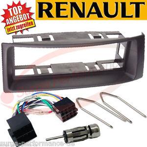Cadre de Montage Pour 1 din Autoradio En Renault Megane Scenic Ab 1996 Noir