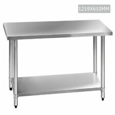 Cefito 610 x 1219 mm Commercial Kitchen Bench - Stainless Steel