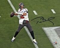 "Tom Brady TB Buccaneers Super Bowl LV Champs Signed 8"" x 10"" Action Photo"