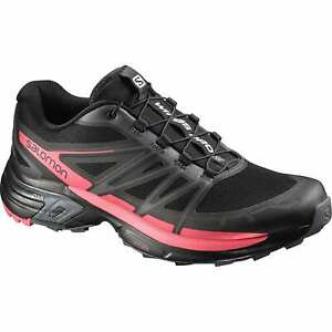 Running Shoes Trainers Woman's Salomon Wings Pro 2W, Black Red Grey, Size 38