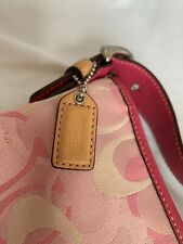 AUTHENTIC COACH Purse M04Q-1850 PINK AND TAN JACQUARD SOHO Mothers Day Gift Bag