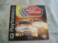 PLAYSTATION 1 MANUAL ONLY  MICHELIN RALLY MASTERS