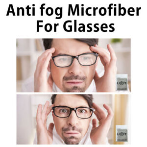 Eyeglasses Anti Fog Cleaning Cloths Screens Lens Wipe for All Electronic Device