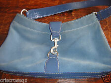 MICHAEL KORS * Denim BLUE SUEDE &  LEATHER Shoulder or HANDBAG * 4 Compartments