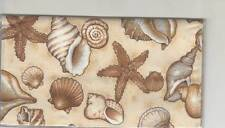 Seashell Checkbook Cover Starfish Seashore Fabric Ocean