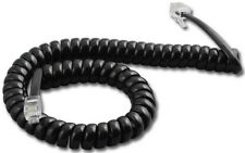 Lot of 25 Black Handset Receiver Coil Curly Telephone Handset Cords 9' FT NEW