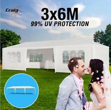 PVC 3x6m Wedding Gazebo Outdoor Folding Party Canopy Tent Marquee White 4 Walls