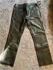 Skintan Leather Jeans 38W 34L (would fit 34/36W)
