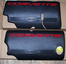 OEM GM 99-2004 Corvette Black Fuel Rail Covers 5.7L LS1 Engine 12561502 12561503