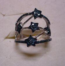 Blue Diamond Ring Size 6  68 diamonds  .60tcw  MSRP$1024